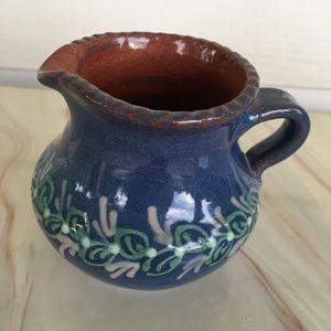 Small Pitcher Pottery Bud Vase Blue Terracotta